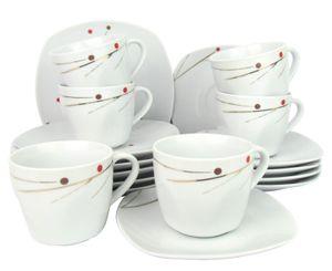 Retsch Arzberg 'Glamour' Geschirr-Set mit echtem Gold Nachbildung - Kaffeeset / Kaffeeservice 18-teilig