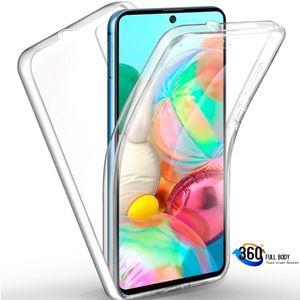 Samsung Galaxy A51 Full Cover Silikon TPU 360° Transparent Hülle Handy Tasche Cover Schale Klar