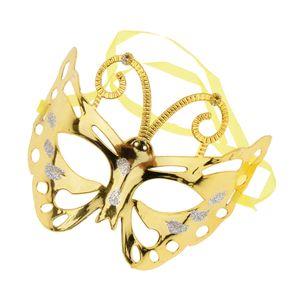 Venezianische Maske Augenmaske Maskenball Maske Maskerade Maske Mit Gold 19,5 x 13 cm