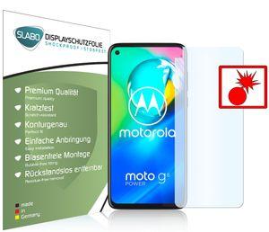 """2x Slabo Panzerschutzfolie für Motorola Moto G8 Power KLAR """"Shockproof"""" (verkleinerte Folien) Displayfolie Schutzfolie Folie"""