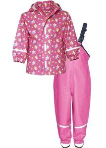Playshoes Regen-Set Sterne allover, in pink, Größe 116