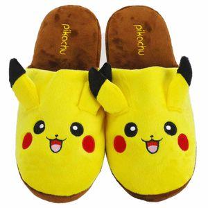 Pokemon Hausschuhe mit Pikachu Motiv | Pantoffel aus Plüsch