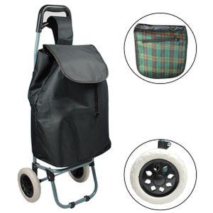 Einkaufstrolley Trolley Einkaufswagen Handwagen Koffer Handgepäck schwarz Roller