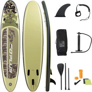 COSTWAY 335x76x15cm Sup-Board bis 130kg Stand up Board Set Paddelboard mit Pumpe und Alu-Paddel