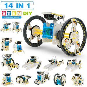 14 in 1 Solar Roboter Bausatz Set Kinder, Educational Lernspielzeug, Bausatz Kinder, Experimentierkasten Science Kit für Kinder ab 8 Jahren