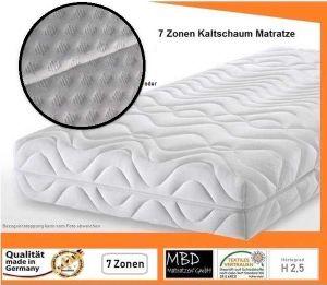 Exklusiv 20 ➽ NEW ➽ Orthopädische 7 Zonen Matratze, (120 x 200 cm - H2,5 ) , Raumgewicht von 30 KG/m³ ➽ In Deutschland hergestellt