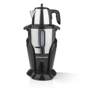 GOURMETmaxx Samowar 2,5L & Teekanne 1,0L 2400W Edelstahl Teekocher Wasserkocher