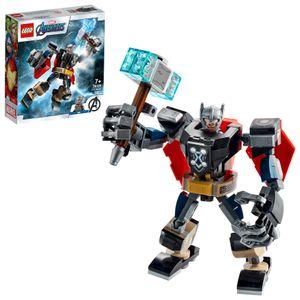 LEGO 76169 Super Heroes Marvel Avengers Thor Mech Set, Actionfigur mit Thor als Minifigur