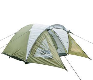 Campingzelt mit Vorraum, Familienzelt,Iglu-Zelt für 3-4 Personen,Grün