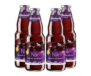 Klindworth Nik 4x Glühwein aus Rotwein - 4x Winterlust Glühwein 1L (9,8% Vol) inkl. Pfand MEHRWEG- [Enthält Sulfite]