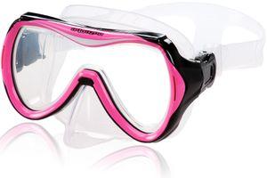 AQUAZON MAUI Junior Medium Schnorchelbrille, Taucherbrille, Schwimmbrille, Tauchmaske für Kinder, Jugendliche von 7-14 Jahren, Tempered Glas, sehr robust, tolle Paßform, Farbe:pink Junior