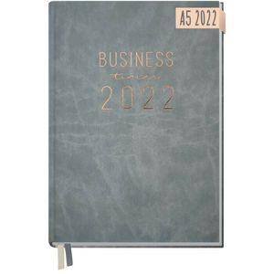 Häfft Business-Timer 2022 Grau-Rosé / A5 / 12 Monate