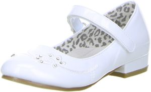 ConWay Mädchen Ballerinas  weiß, Größe:28, Farbe:Weiß
