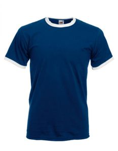 Ringer Herren T-Shirt - Farbe: Navy/White - Größe: L