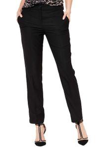 COMMA Anzug-Hose elegante Damen Business-Hose mit Beinfalte Schwarz, Größe:40