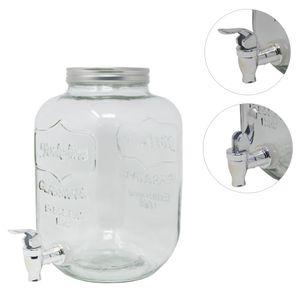 4L  5L 8L Getränkespender Wasserspender Saftspender Karaffe Glas Zapfhahn Deckel 5 Liter Transparent