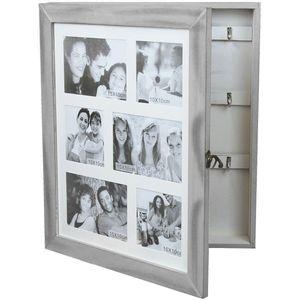 Wohaga® Schmuck-/Schlüsselschrank mit Fotogalerie für 6 Fotos