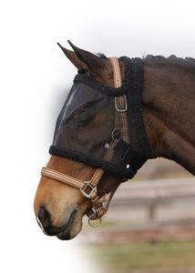 Fliegenmaske Fliegenschutz ohne Ohren QHP  ARBO-INOX® Größe - Pony