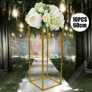 10 Stück Hochzeitsdekor Blumenständer Metall Metallblumenständer Hochzeitsblumenständer Metallvase Säulenständer Hochzeit Tischblumenständer Hochzeitsdekoration 60cm Gold