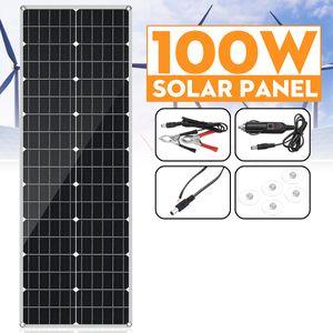 Geepro 100W Flexible MONOkristallin Solarpanel Solarmodul Solarzelle PET Auto