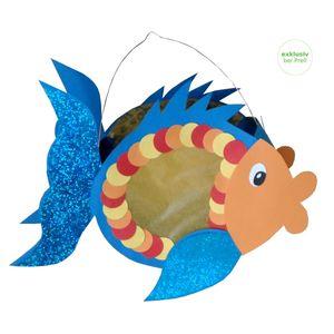 Laternen Bastelset Fisch, 3 Stück