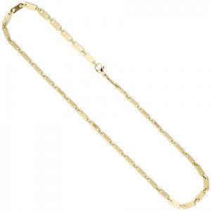 JOBO Halskette Kette 585 Gold Gelbgold 50 cm Goldkette Karabiner