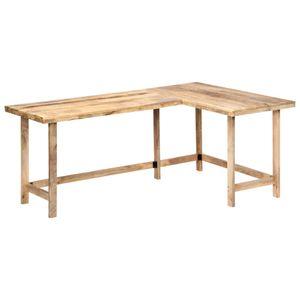 yocmall Schreibtisch 180 x 120 x 76 cm Massivholz Mango
