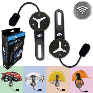 BuddyChat Duo Bluetooth Intercom Helm Headset Freisprechanlage Funkgerät 1000m