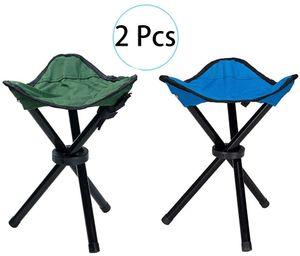 Outdoor Hocker Klappbar 2 Stücke, Dreibeinhocker 3-Bein-Hocker Kompakt Outdoor Stativ Hocker Klapp Freizeit Hocker, 3 Beine Stuhl Sitz Klapp Hocker Tragbar für Angeln Camping Wandern BBQ