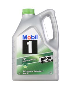 5 Liter MOBIL 0W-30 1 ESP API SL ACEA C3 ACEA C3 MB 229.31 MB 229.51 Porsche C30 VW 504 00 VW 507 00 MB 229.52
