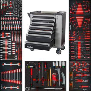 Premium Werkzeugwagen mit 7 Schubladen inkl. Werkzeug
