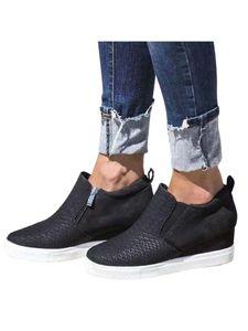 Damen High Heels Mode atmungsaktive Canvas Schuhe elastische Einzelschuhe,Farbe: Schwarz,Größe:43
