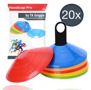 20x Markierungshütchen Hütchen Kegel für Slalom Trainingszubehör