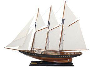 Segelschiff Atlantic, Rennschoner, Historischer 3-Mast-Schoner, Schiffs Modell