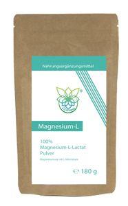 VITARAGNA® Magnesium L-Lactat Pulver, Magnesiumsalz mit L-Milchsäure, 180 g vollständig umgesetztes Magnesium als leicht lösliches Magnesiumlactat