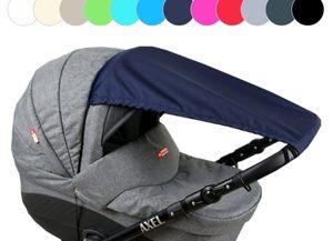 BABYLUX Sonnenschutz SONNENSEGEL für Kinderwagen UNI Buggy UV Schutz Marine Blau