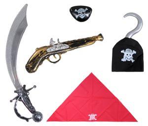 Piraten Set 5-teilig Piratenkostüm Accessoires