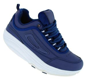 Fitnessschuhe Sport Schuhe 14 Farben Gesundheitsschuhe Damen Herren Sneaker 092, Schuhgröße:43, Farbe:Dunkelblau
