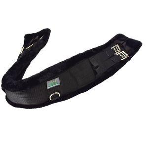 USG Sattelgurt Kurzgurt Langgurt mit Fell unterlegt schwarz, Länge (cm):50cm