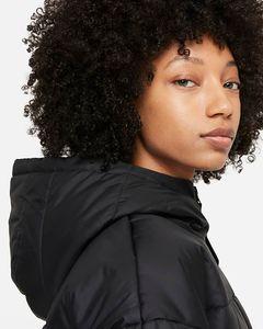 Nike W Nsw Tf Rpl Classic Hd Jkt Black/Black/White S