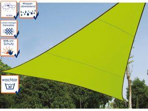 Perel schattentuch dreieckig 3,6 Meter Polyester lime