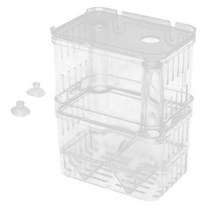 Aquarium Fisch Züchter Box Isolation Box Züchter Brüterei Inkubator mit 2x Saugnäpfe