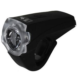 M-Wave Atlas K10 USB Batterie Beleuchtungsset Fahrrad Lampenset StVZO Akkulampenset Leuchten, Farbe:schwarz