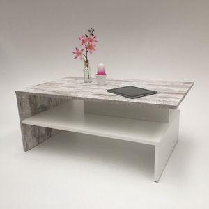 Möbel SD  Couchtisch SW in zwei Farben Canyon White Pine - Weiß