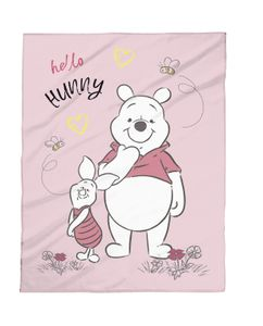 Disney Babydecke Micro Flausch 75x100 Winnie Pooh rosa