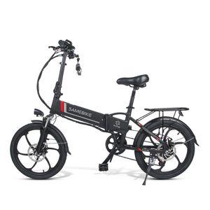 SAMEBIKE 20LVXD30 20Zoll E-BIKE, E Bike Herren, Ebike Mountainbike, Elektrofahrrad, Pedelec——250W/40V,Max 25km/h,Schwarz