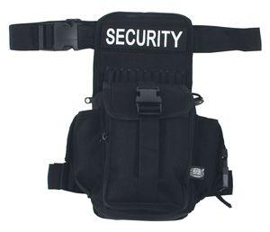 MFH Hüft-, Oberschenkeltasche,SECURITY, schwarz