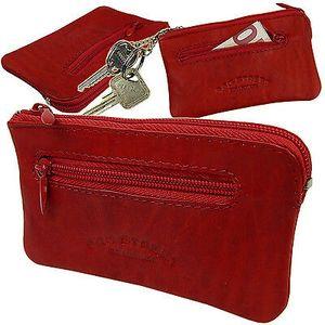 Schlüsseltasche Schlüsseletui Schlüsselringe Schlüsselmappe Rindleder  Rot