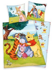 Disney´s Winnie the Pooh Bettwäsche 80x80 + 135x200 mit Reißverschluss
