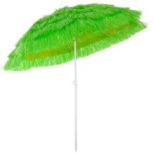 Kingsleeve Sonnenschirm Hawaii Ø160cm Strand Sonnenschirm Gartenschirm Balkonschirm, Farbe:grün - green - vert